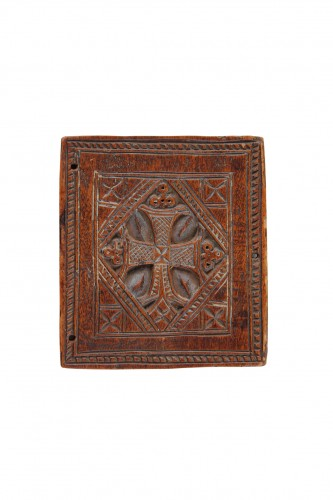 19th century - Ethiopian Christian Devotional Double Sided Tablet Pendant