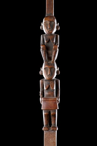 Figurative Ladle from Palau the Long Wooded Handle  - Tribal Art Style