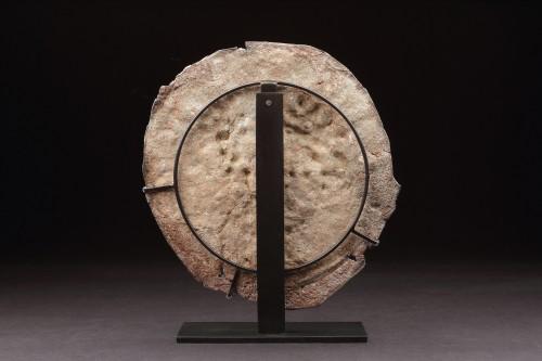 Very Rare Roman Period Jewish Lead Roundel - Ancient Art Style