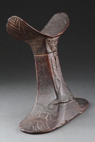 Antiquités - Egyptian Wooden Headrest