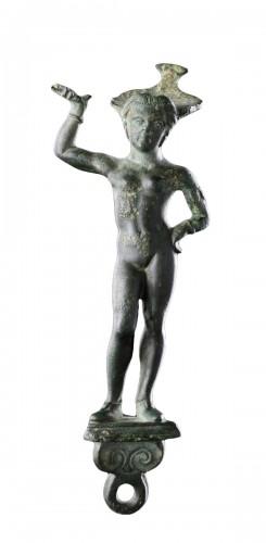 Etruscan Faliscan Bronze Patera Handle