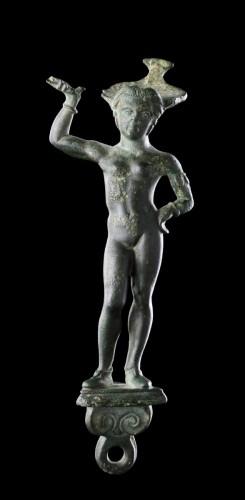 Etruscan Faliscan Bronze Patera Handle  -