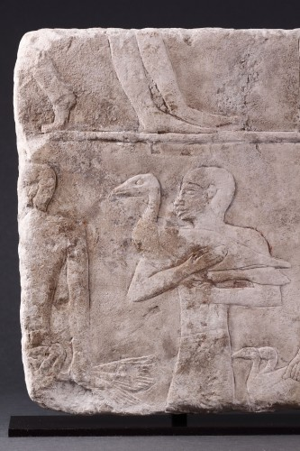 Ancient Art  - Egyptian Limestone Relief Carved in Shallow Relief