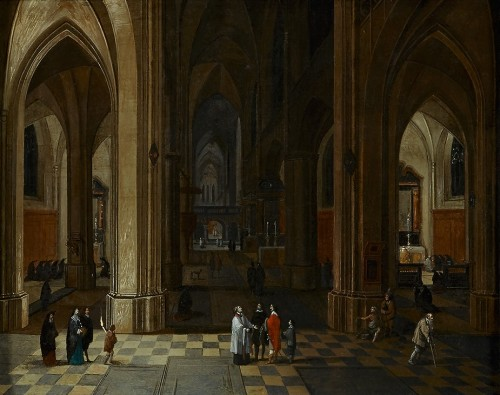 A Nocturnal Interior of a Gothic Cathedral - Pieter Neefs the Elder