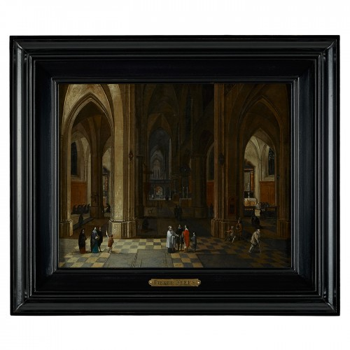 A Nocturnal Interior of a Gothic Cathedral - Pieter Neefs the Elder - Paintings & Drawings Style