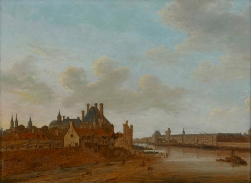 View of the River Seine and the Grande Galerie du Louvre - Abraham de Verwer (ca. 1585 - 1650)