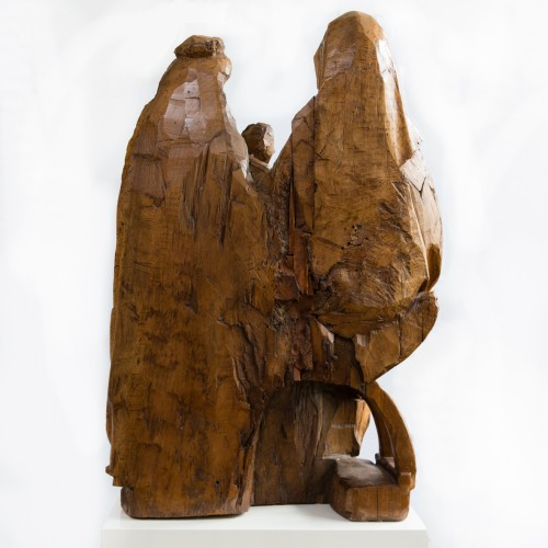 Saint Anna Selbdritt - Sculpture Style Middle age