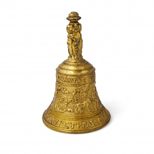 A Gilded bronze Table Bell - Decorative Objects Style Renaissance