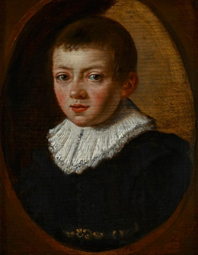 Paintings & Drawings  - A Portrait of a Young Boy, Dutch Master ca. 1630
