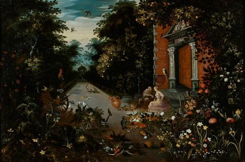 Vertumnus wooing Pomona, An Allegory of Harvest or Plenty