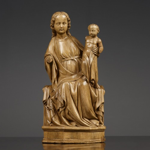 The Enthroned Virgin and Child circa 1350 - Sculpture Style Middle age