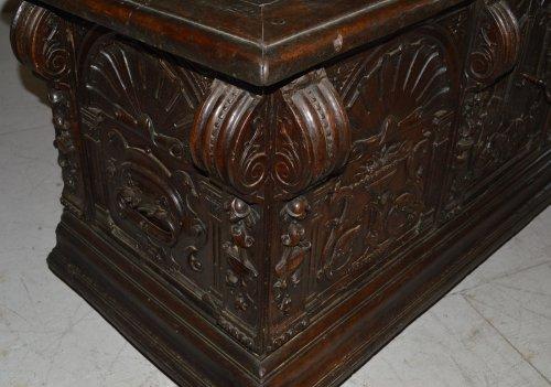 Furniture  - Spanish, Renaissance period walnut caixa