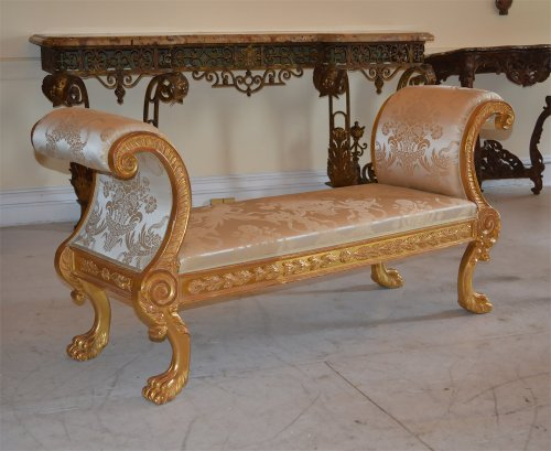 Pair of very fine, Regency, giltwood benches - Seating Style Empire