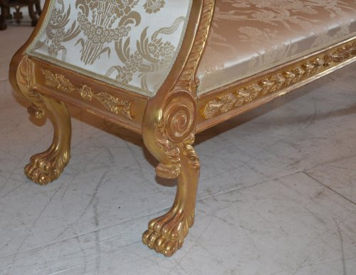 Seating  - Pair of very fine, Regency, giltwood benches