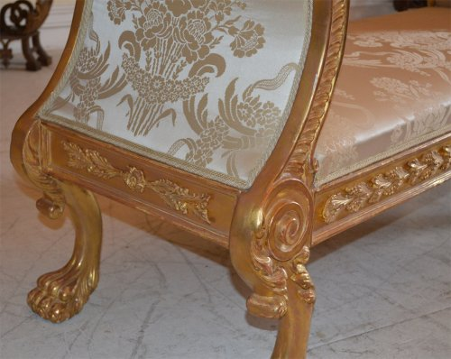 Pair of very fine, Regency, giltwood benches -