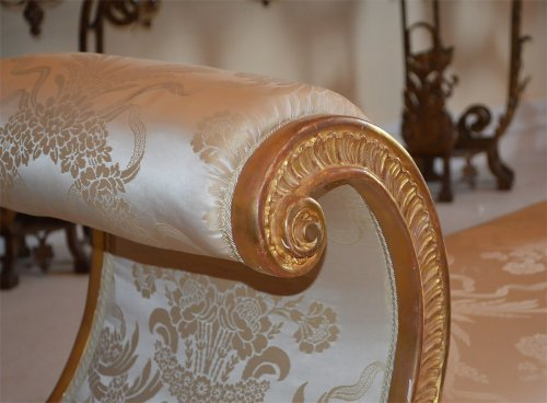 Pair of very fine, Regency, giltwood benches - Empire