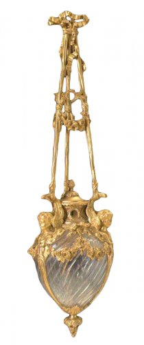 French, Louis XVI style (Neo-Classical), gilt bronze, lantern
