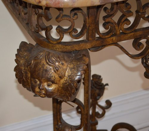 Pair of French, Louis XIV style, wrought-iron consoles - Furniture Style Art Déco