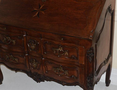 Furniture  - French provincial, Louis XV period secretaire en bibliotheque