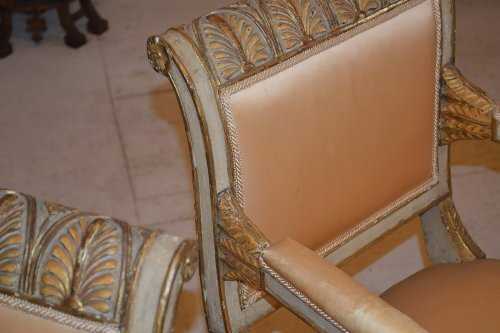 18th century - Set of ten Italian, Neoclassical period dining chairs