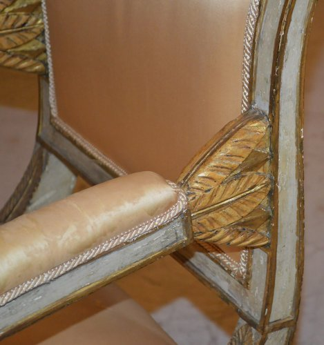 - Set of ten Italian, Neoclassical period dining chairs