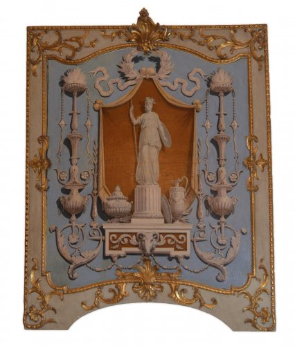 Architectural & Garden  - Set of four, Italian, Neoclassical period, boiserie panels