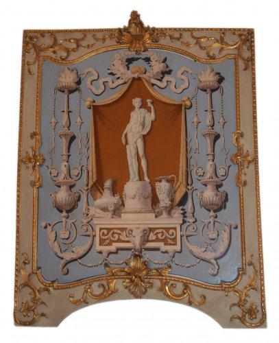 Set of four, Italian, Neoclassical period, boiserie panels -