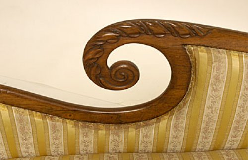William IV period, carved mahogany recamier - Seating Style