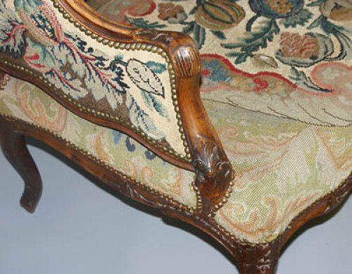 Seating  - French, Regence period canapé a oreilles