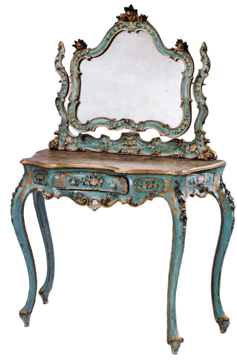 Coiffeuse De Style Rocaille Venise Vers 1850 Xixe
