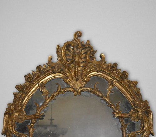 Mirrors, Trumeau  - French, Regence period mirror