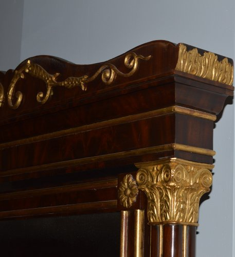 Spanish, Neoclassical, flame mahogany and parcel-gilt coiffeuse - Furniture Style Empire