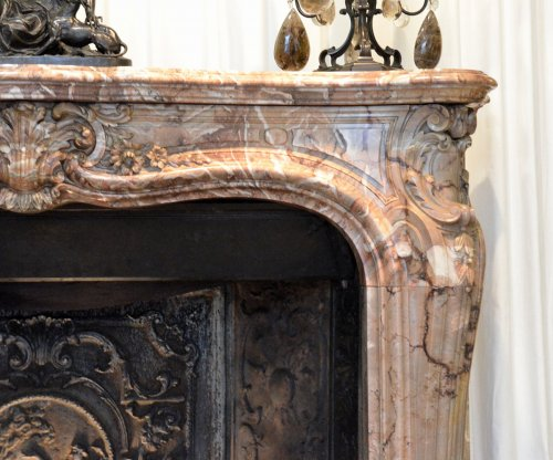 Architectural & Garden  - Louis XV style marble fireplace surround