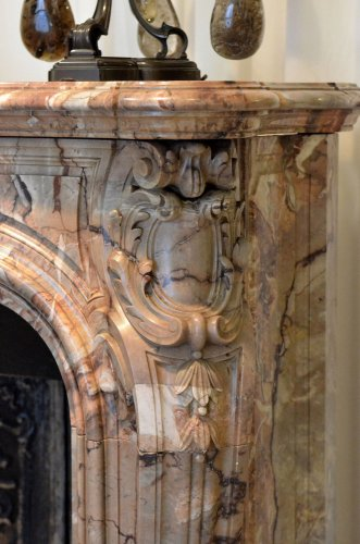 Louis XV style marble fireplace surround -