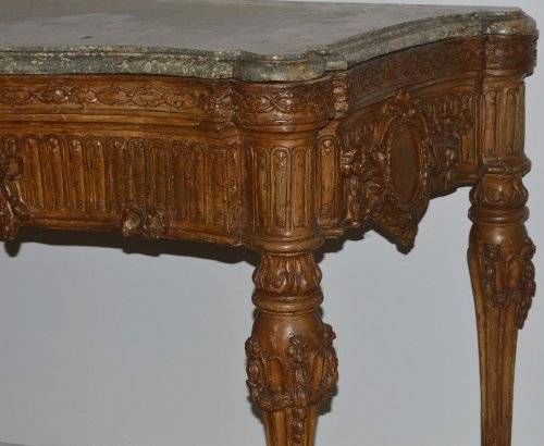 18th century - Large, Italian, Louis XVI period carved console