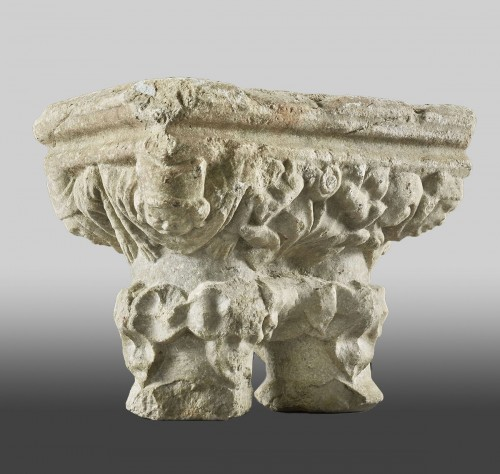 Double Cloister Capital - Architectural & Garden Style Middle age