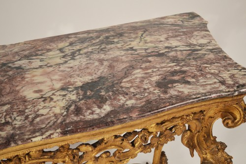 Genoese, Rococo period console table - Furniture Style Louis XV