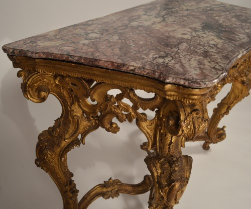 Genoese, Rococo period console table - Louis XV