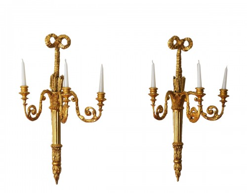 Pair of English, George III period sconces