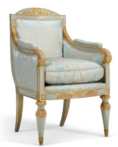 Pair of Northern Italian, Neoclassical period bergeres - Seating Style Louis XVI