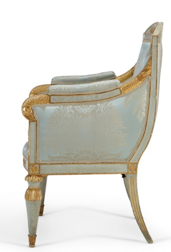 Seating  - Pair of Northern Italian, Neoclassical period bergeres