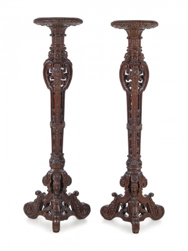 Pair of French, Louis XIV period torcheres