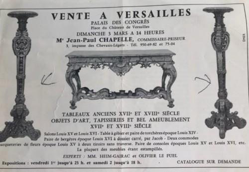 Pair of French, Louis XIV period torcheres - Furniture Style Louis XIV