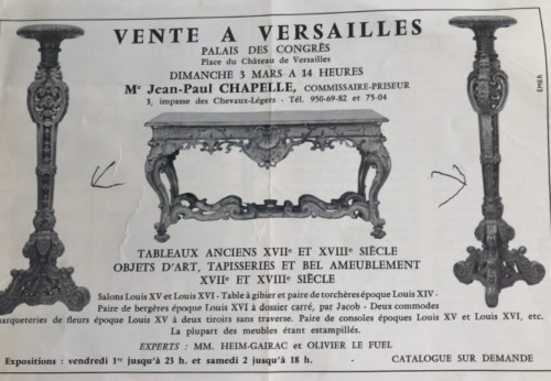 Furniture  - Pair of French, Louis XIV period torcheres
