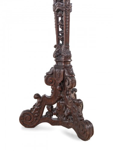 Pair of French, Louis XIV period torcheres -