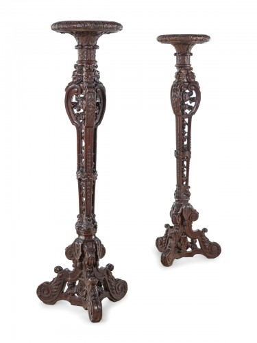 17th century - Pair of French, Louis XIV period torcheres