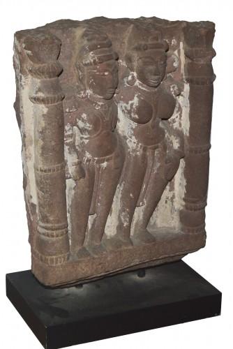 Imposing, Northern Indian, erotic stele