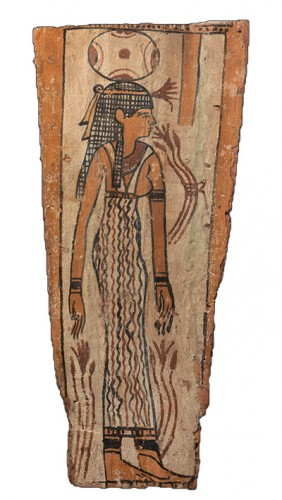Egyptian, Ptolemaic period sarcophagus panel