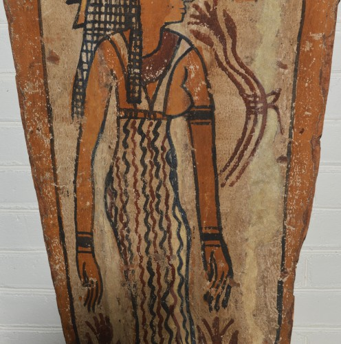 Ancient Art  - Egyptian, Ptolemaic period sarcophagus panel