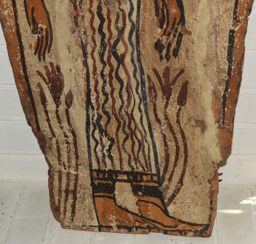Egyptian, Ptolemaic period sarcophagus panel -